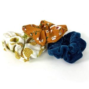 Bundle: 3 Scrunchie Hair Tie Pony Tail Holders